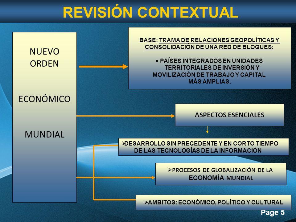REVISIÓN CONTEXTUAL NUEVO ORDEN ECONÓMICO MUNDIAL ASPECTOS ESENCIALES