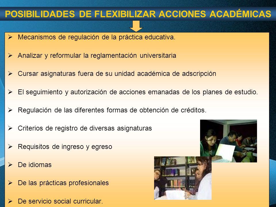 POSIBILIDADES DE FLEXIBILIZAR ACCIONES ACADÉMICAS