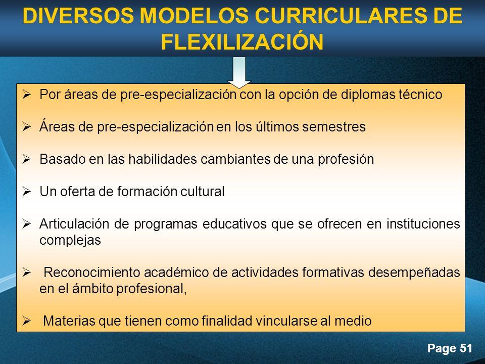 DIVERSOS MODELOS CURRICULARES DE FLEXILIZACIÓN