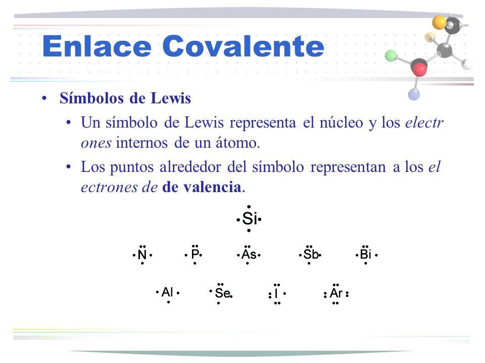 Enlace Covalente Símbolos de Lewis