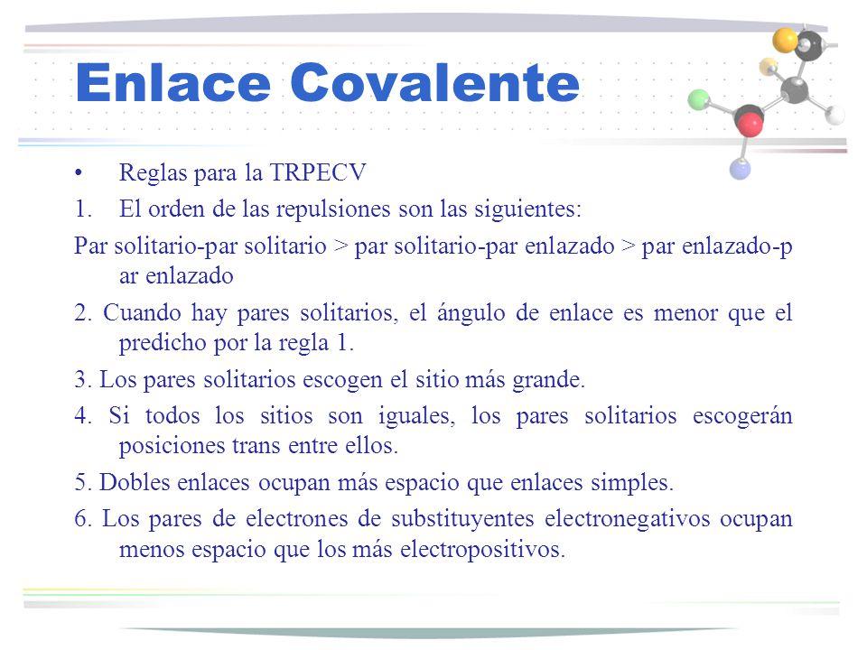 Enlace Covalente Reglas para la TRPECV