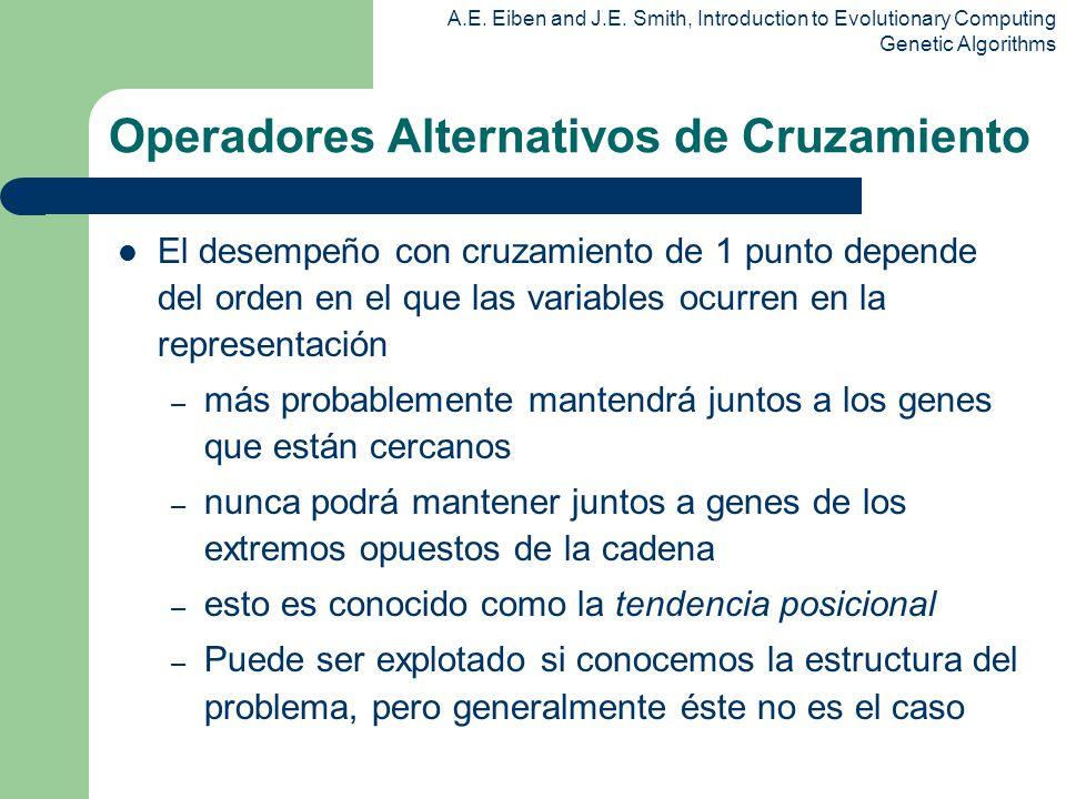 Operadores Alternativos de Cruzamiento