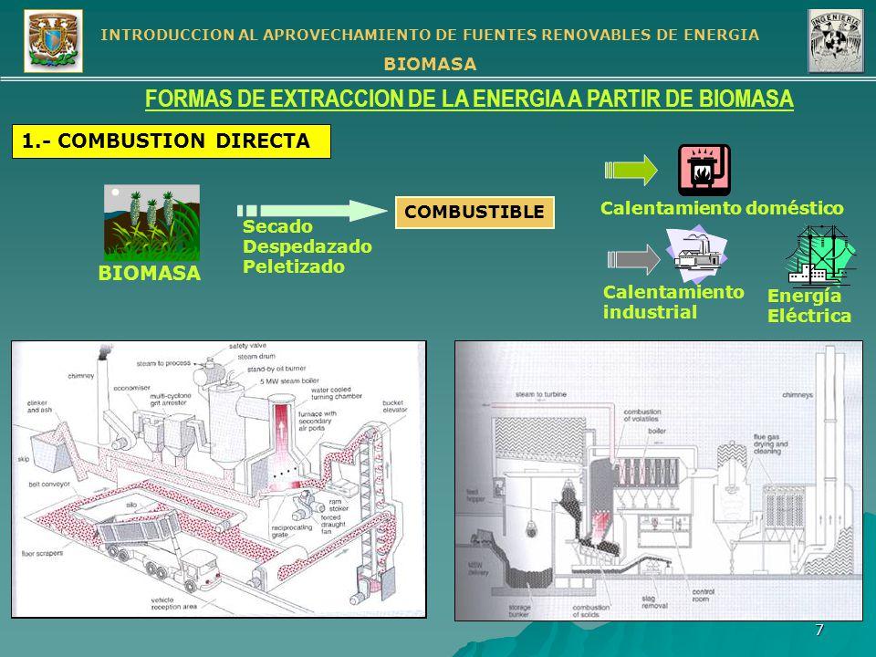 FORMAS DE EXTRACCION DE LA ENERGIA A PARTIR DE BIOMASA