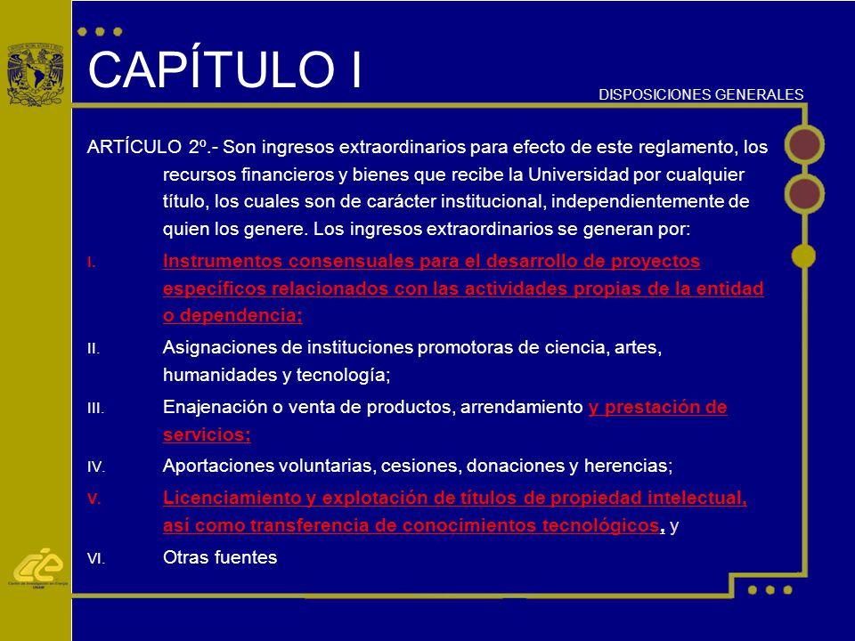 CAPÍTULO I DISPOSICIONES GENERALES.