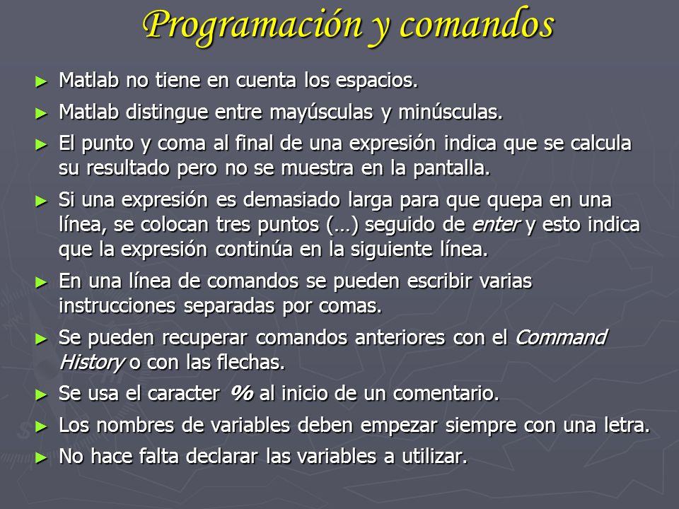 Programación y comandos