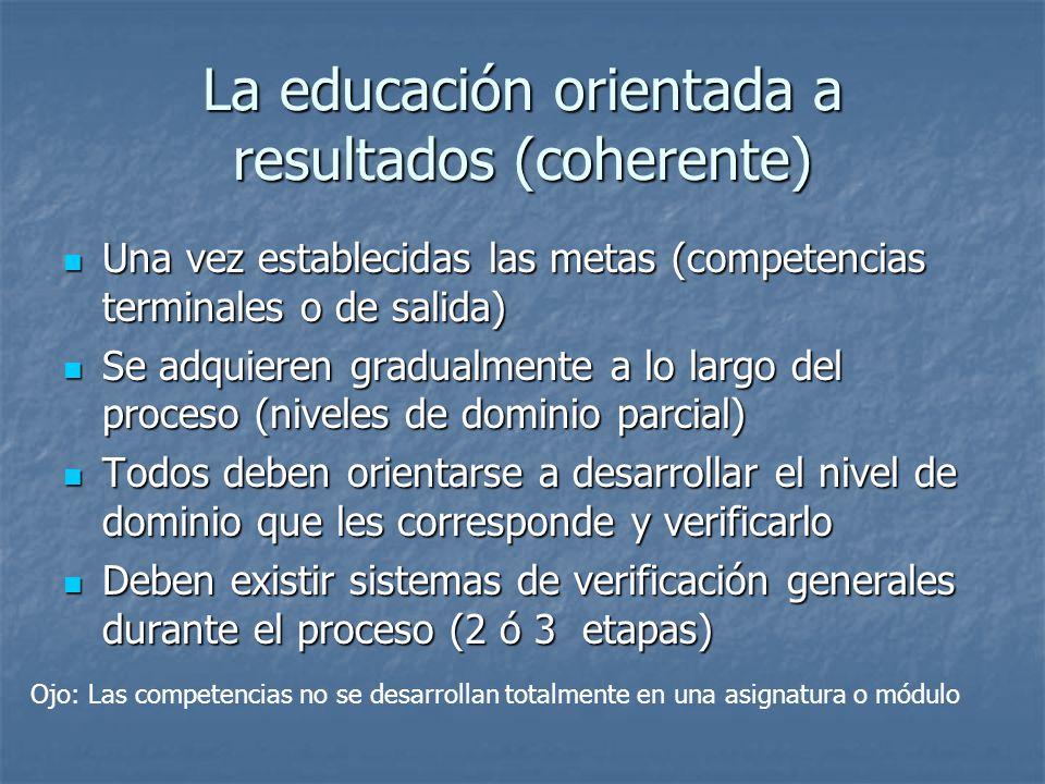 La educación orientada a resultados (coherente)