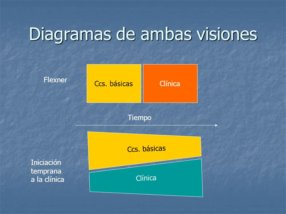 Diagramas de ambas visiones