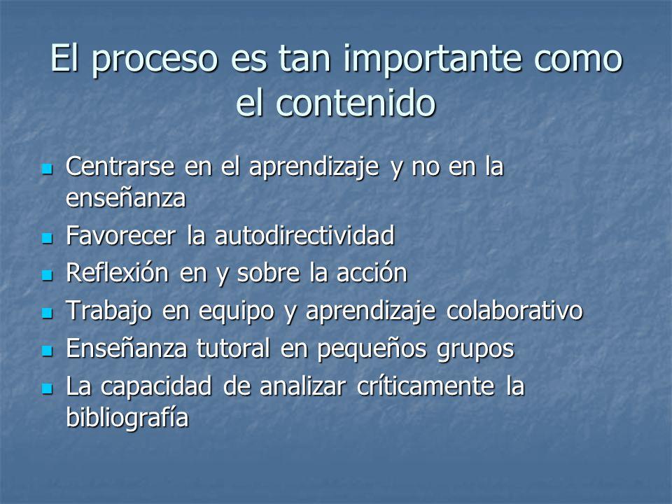 El proceso es tan importante como el contenido
