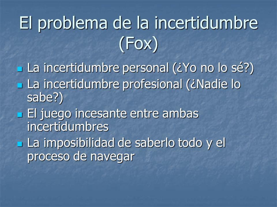 El problema de la incertidumbre (Fox)
