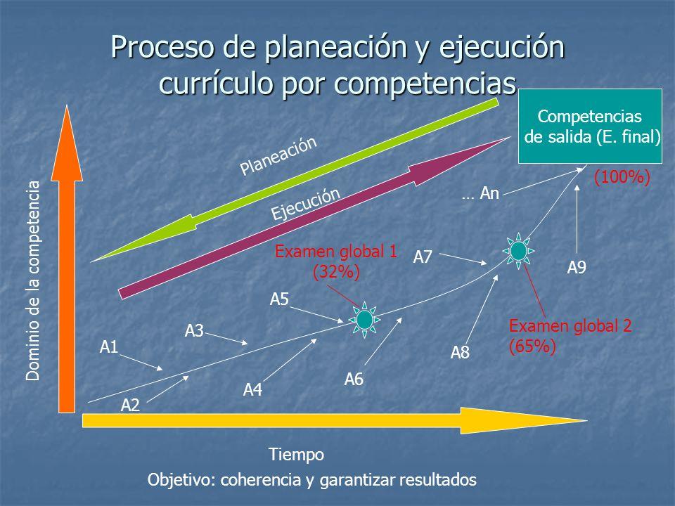Proceso de planeación y ejecución currículo por competencias
