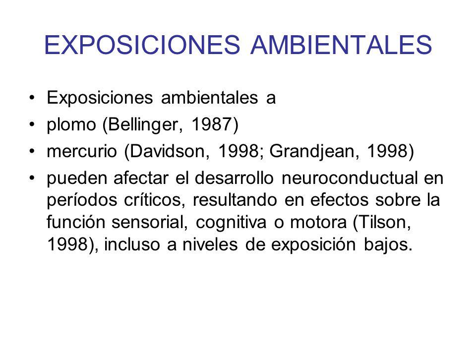 EXPOSICIONES AMBIENTALES