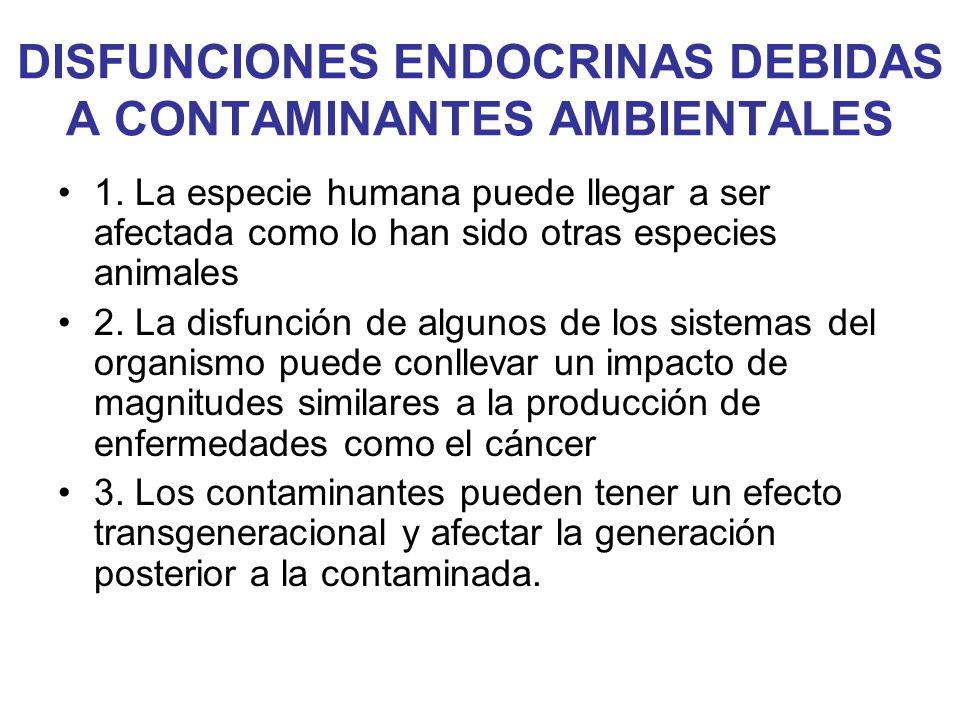 DISFUNCIONES ENDOCRINAS DEBIDAS A CONTAMINANTES AMBIENTALES