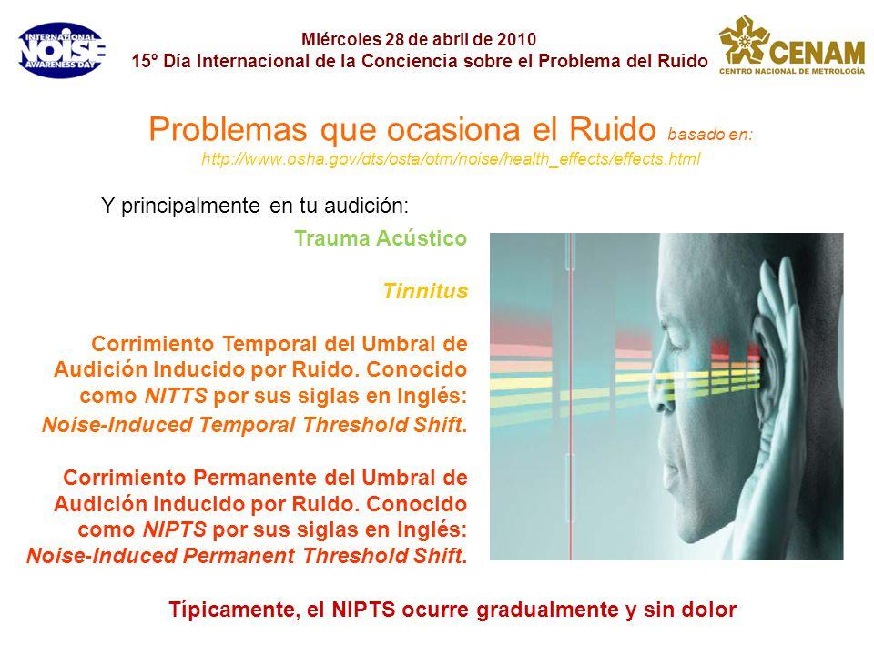 Típicamente, el NIPTS ocurre gradualmente y sin dolor
