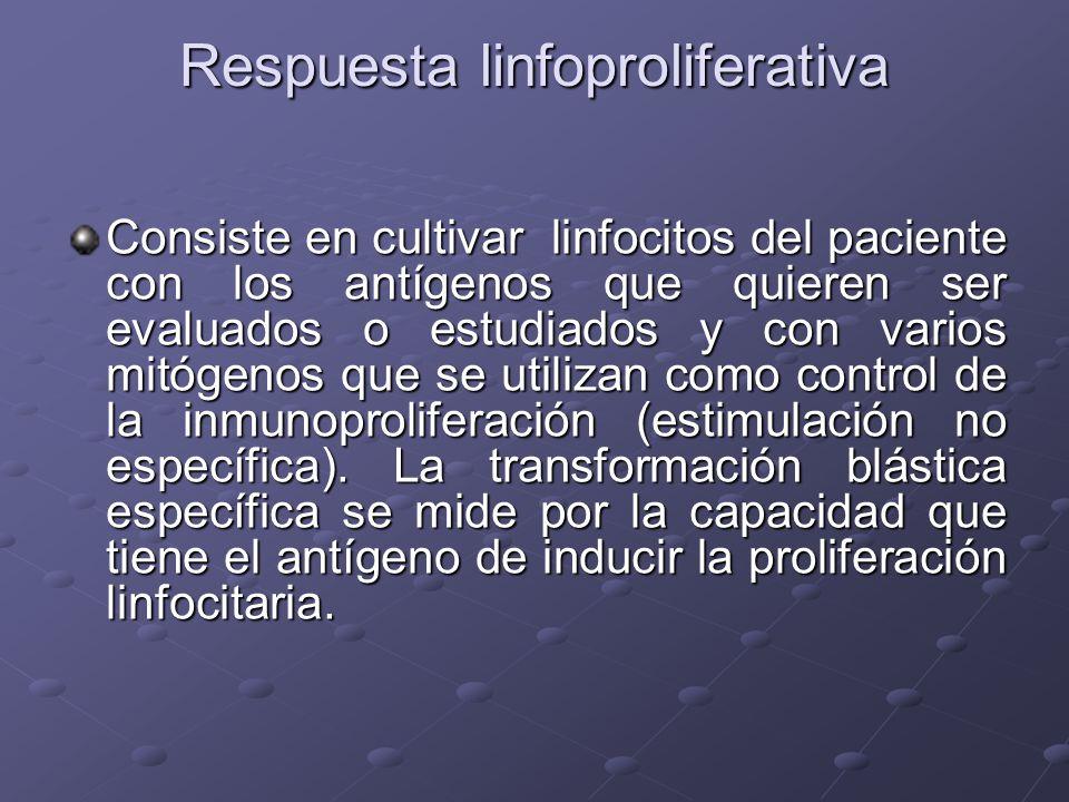 Respuesta linfoproliferativa
