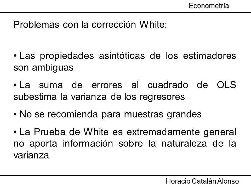 Problemas con la corrección White: