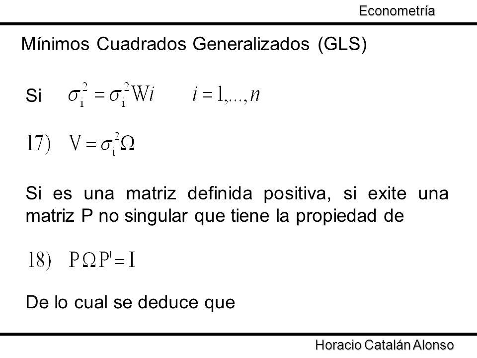 Mínimos Cuadrados Generalizados (GLS)