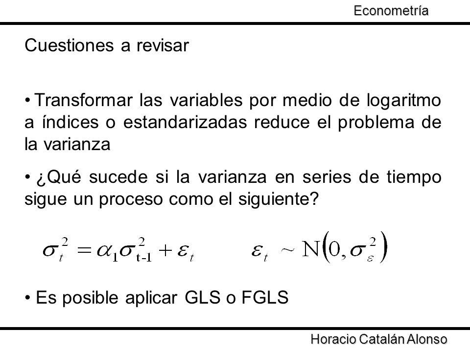 Es posible aplicar GLS o FGLS