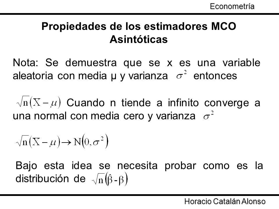 Propiedades de los estimadores MCO