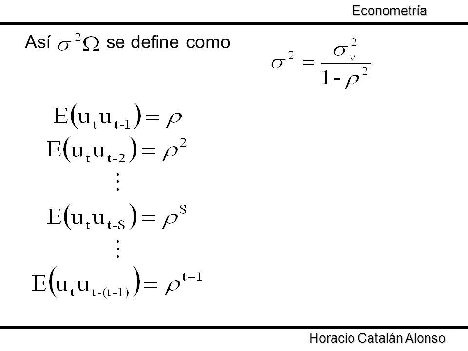Así se define como Econometría Taller de Econometría