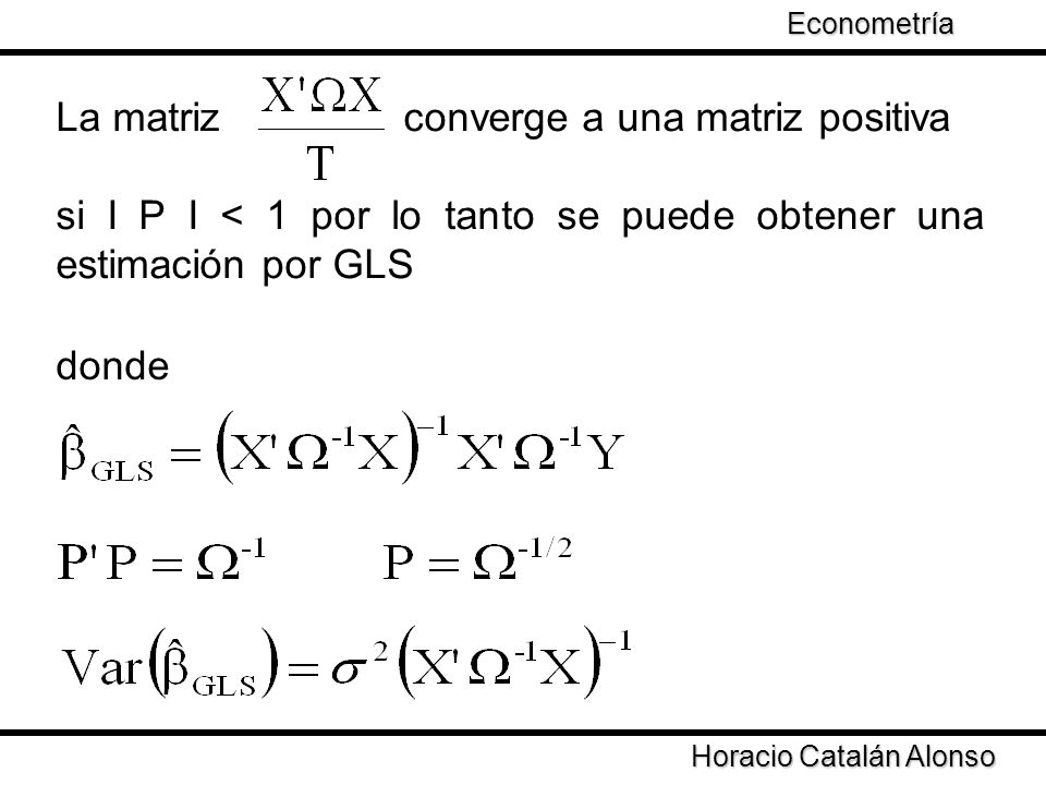 La matriz converge a una matriz positiva