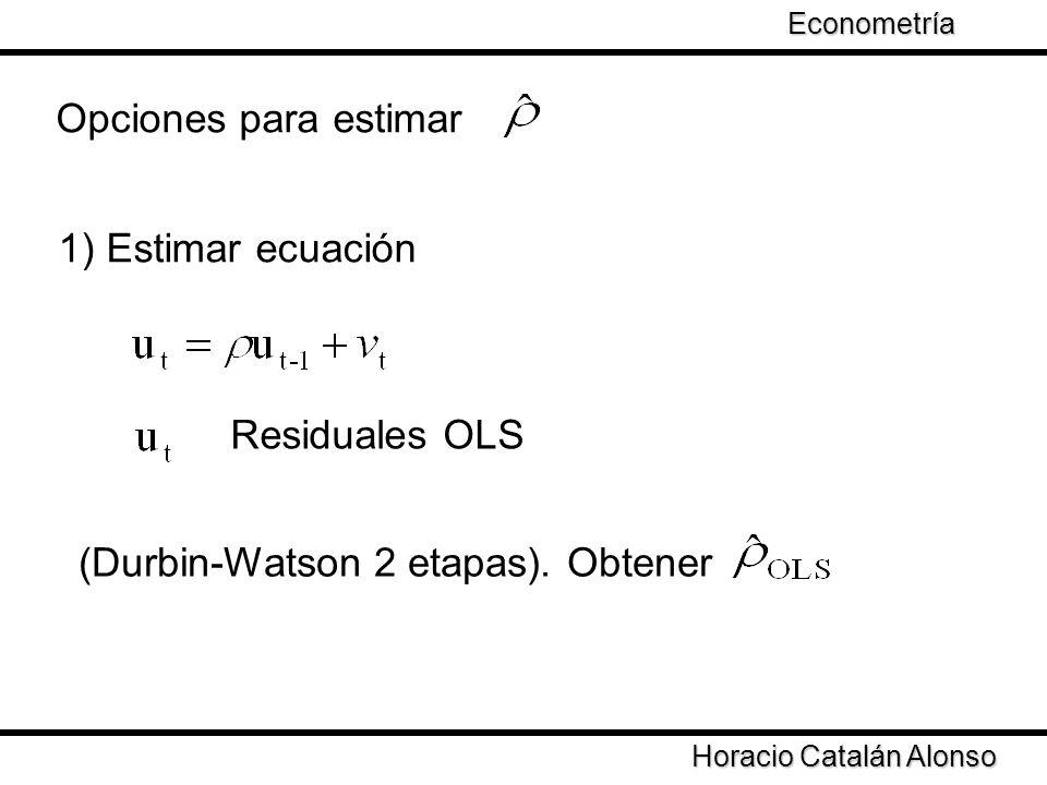 (Durbin-Watson 2 etapas). Obtener