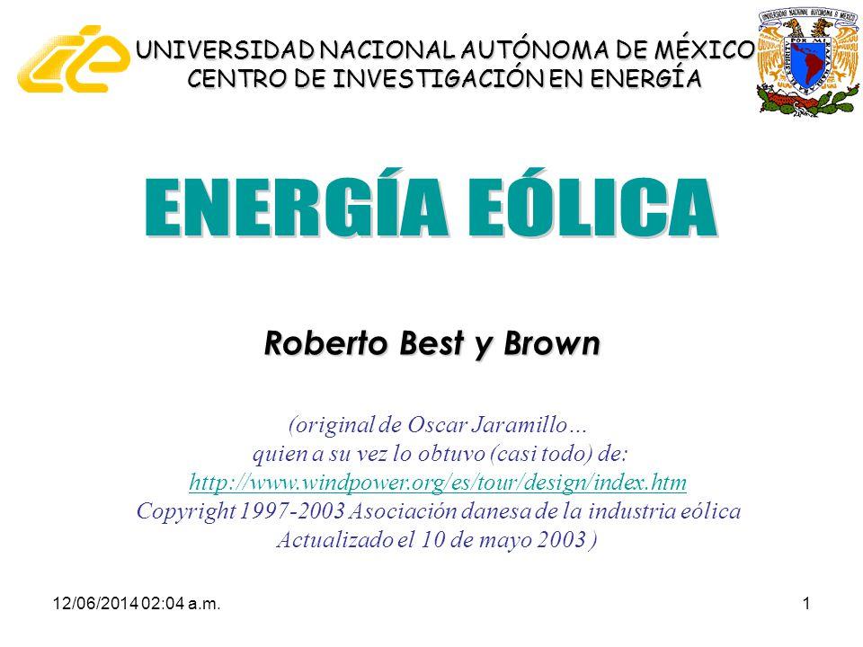 ENERGÍA EÓLICA Roberto Best y Brown