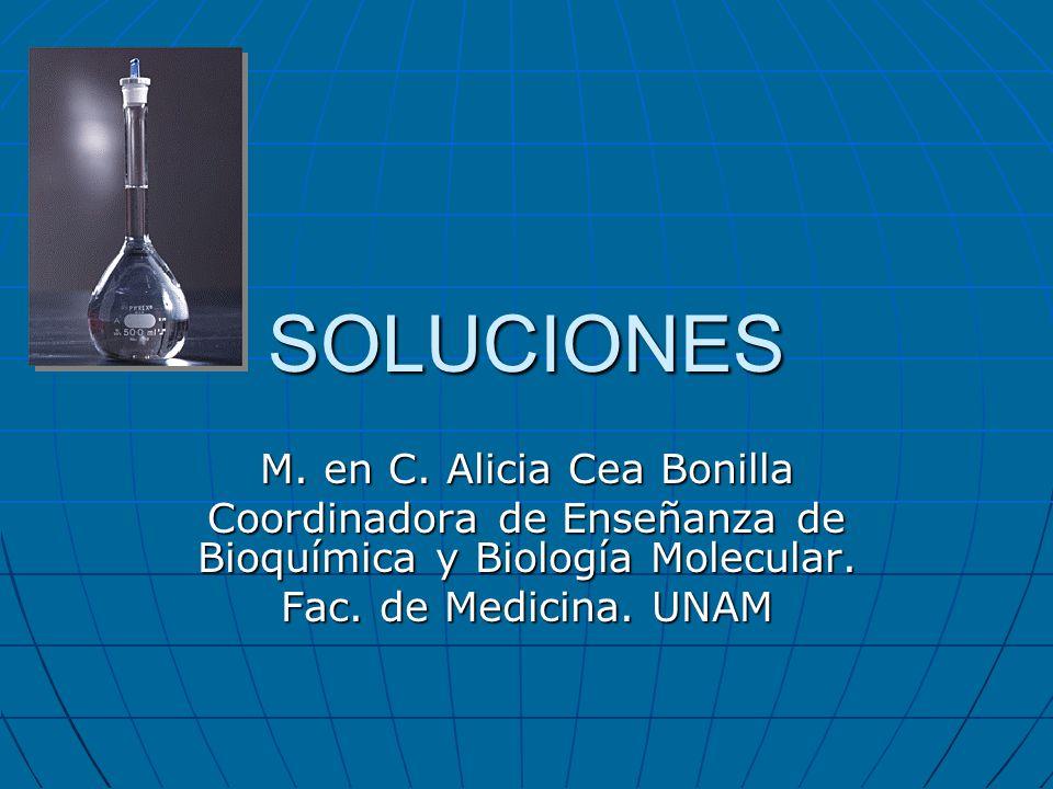 SOLUCIONES M. en C. Alicia Cea Bonilla
