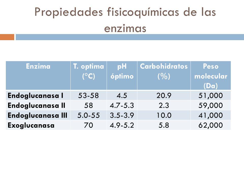 Propiedades fisicoquímicas de las enzimas