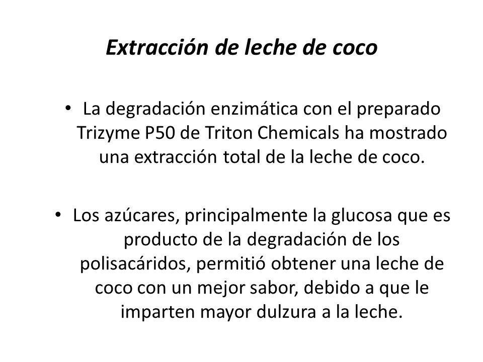 Extracción de leche de coco