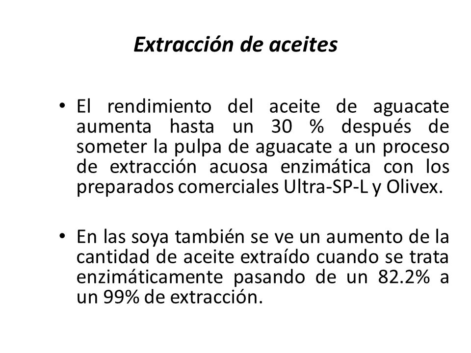 Extracción de aceites