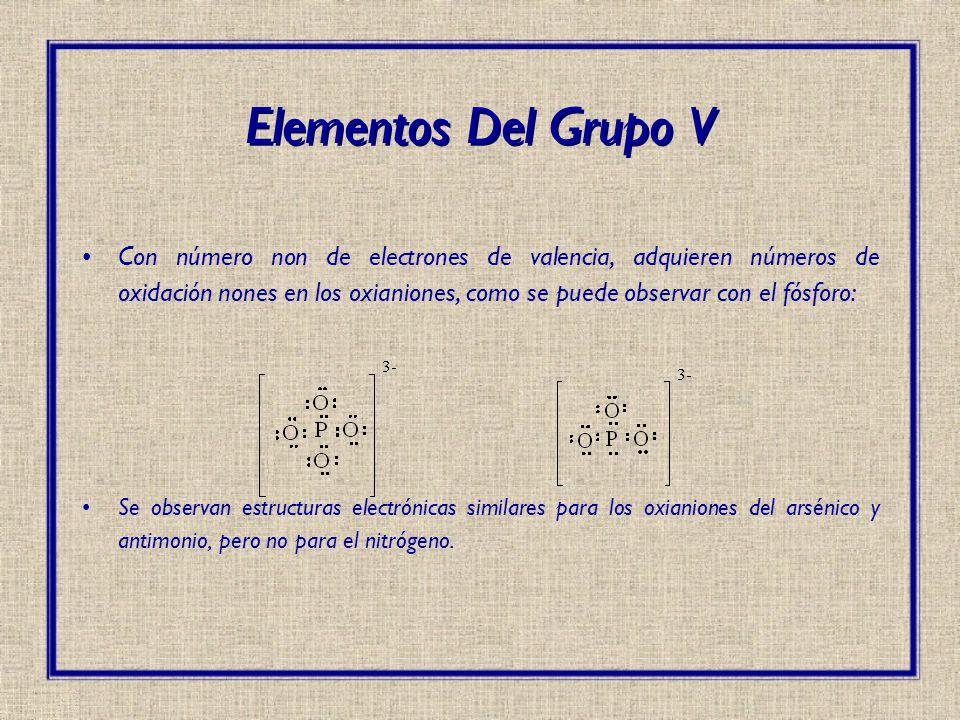 Elementos Del Grupo V