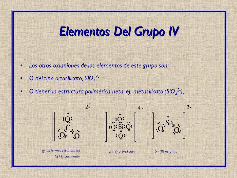 Elementos Del Grupo IV n C