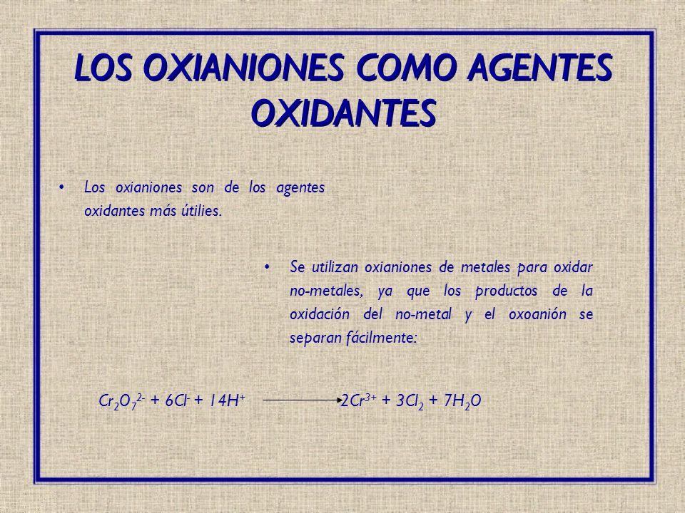 LOS OXIANIONES COMO AGENTES OXIDANTES