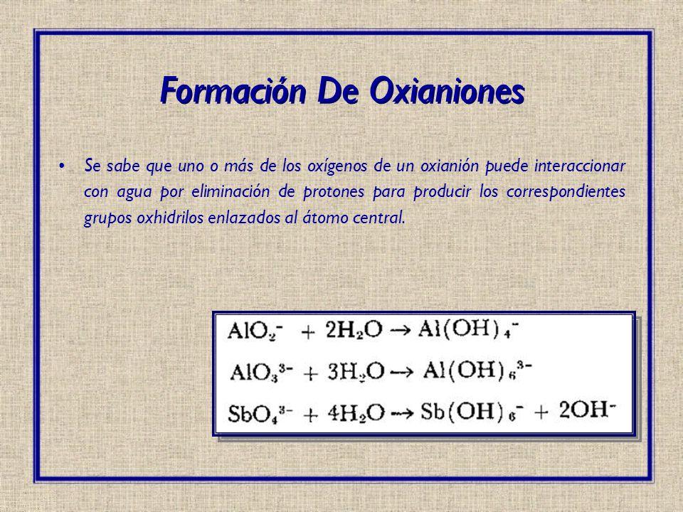 Formación De Oxianiones