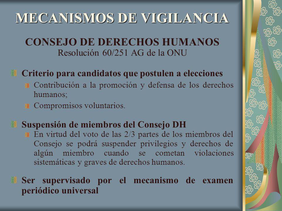 MECANISMOS DE VIGILANCIA
