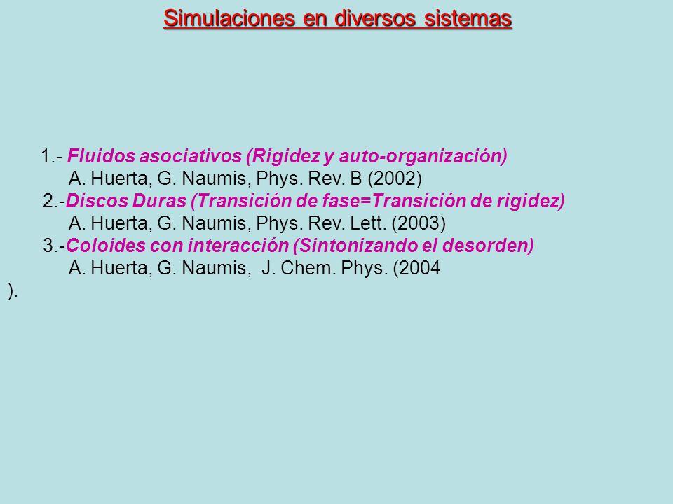 Simulaciones en diversos sistemas