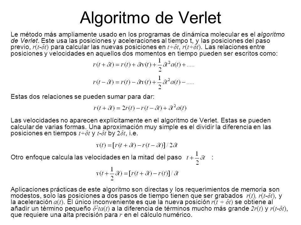 Algoritmo de Verlet
