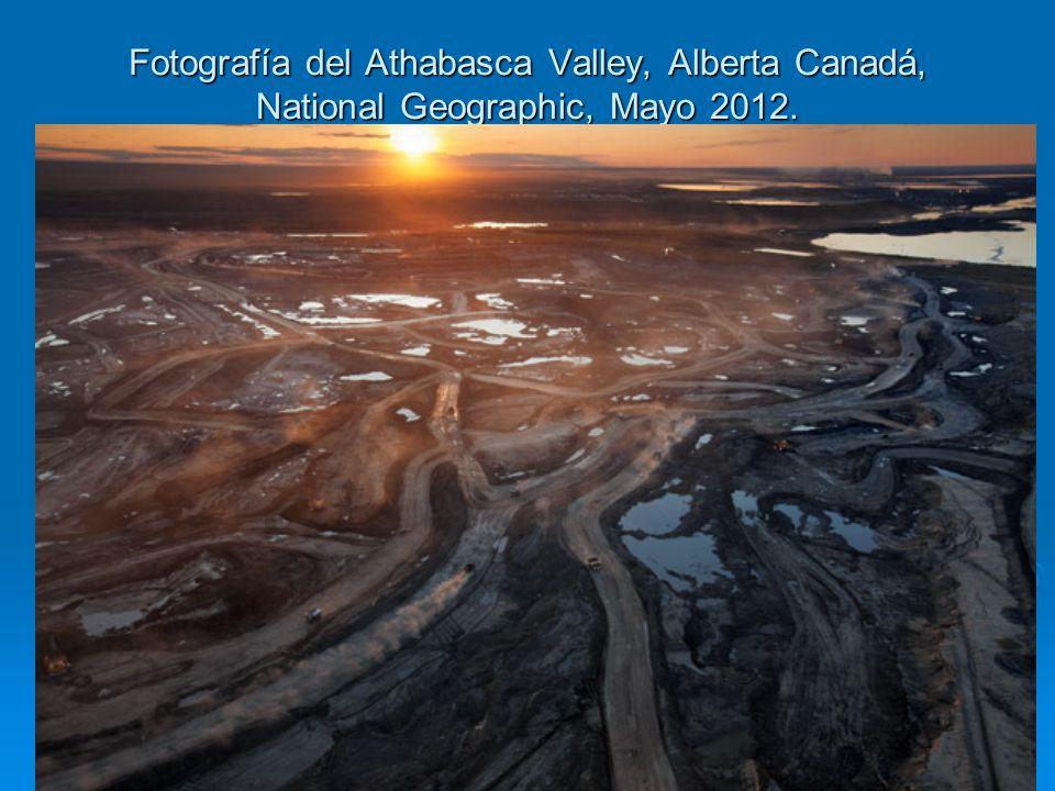 Fotografía del Athabasca Valley, Alberta Canadá, National Geographic, Mayo 2012.