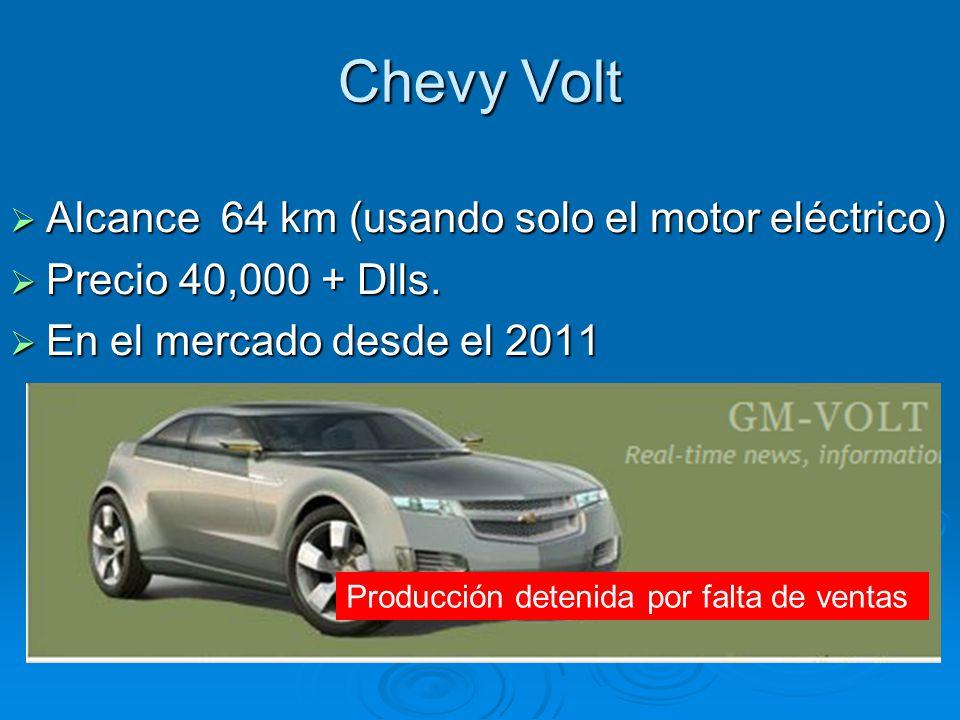 Chevy Volt Alcance 64 km (usando solo el motor eléctrico)