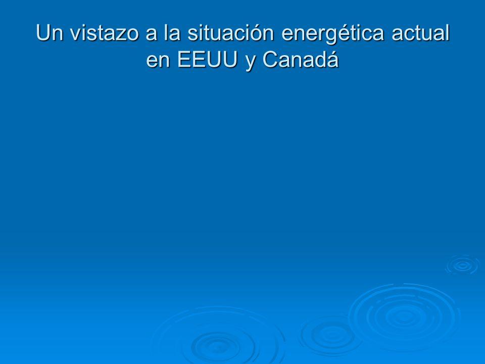 Un vistazo a la situación energética actual en EEUU y Canadá