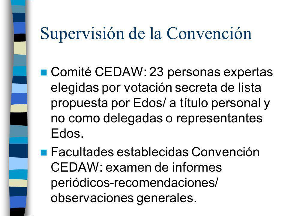 Supervisión de la Convención