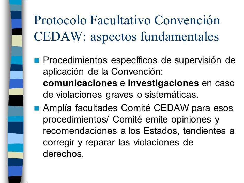 Protocolo Facultativo Convención CEDAW: aspectos fundamentales