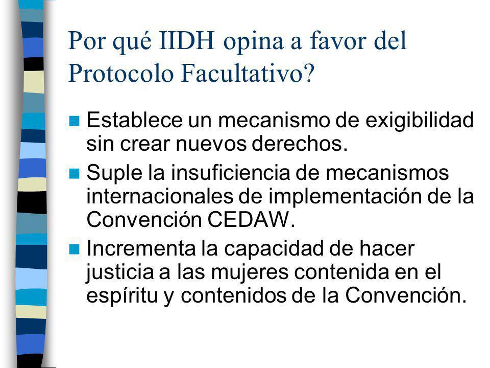 Por qué IIDH opina a favor del Protocolo Facultativo