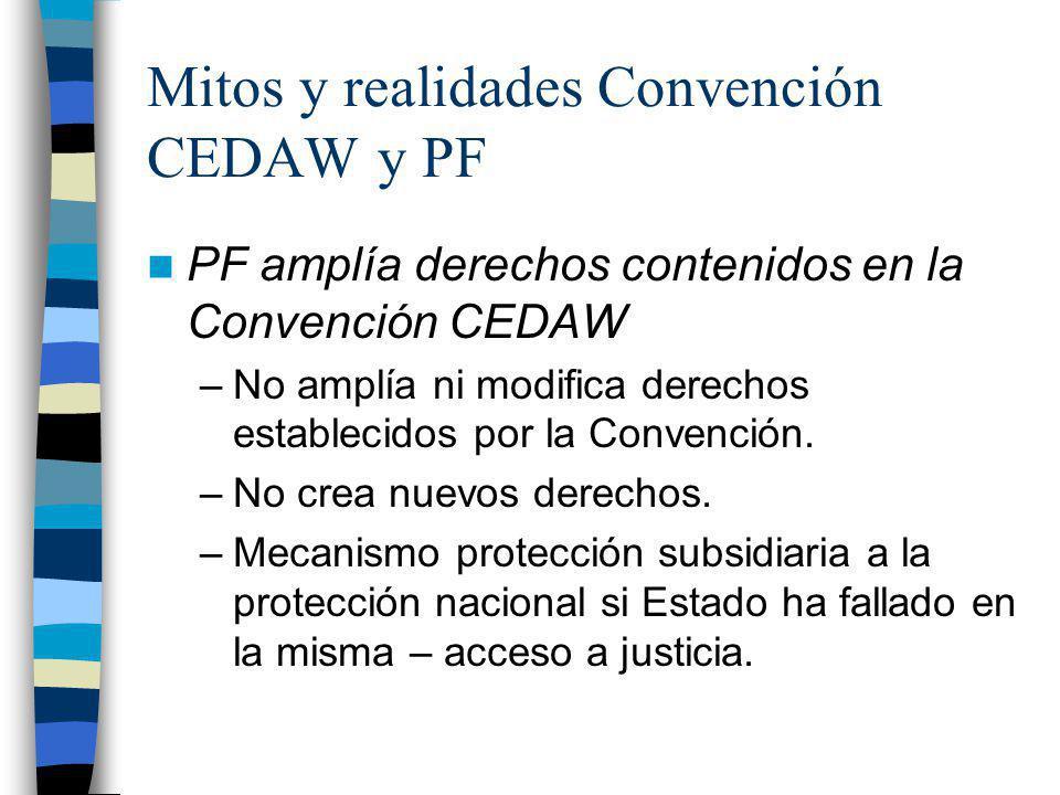 Mitos y realidades Convención CEDAW y PF