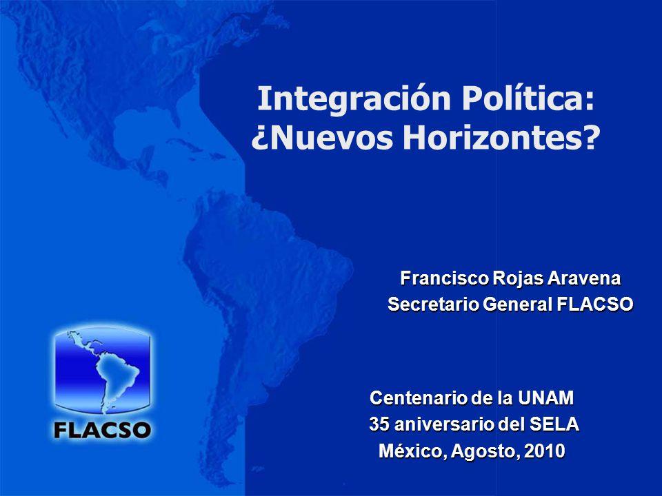 Integración Política: ¿Nuevos Horizontes