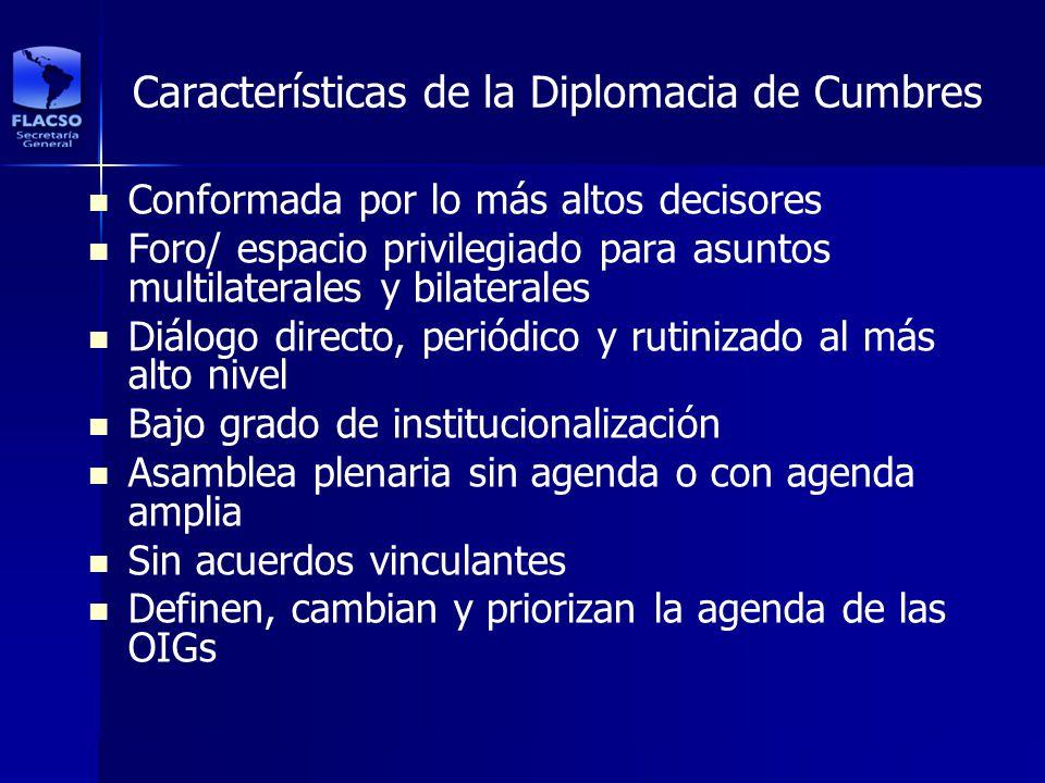 Características de la Diplomacia de Cumbres