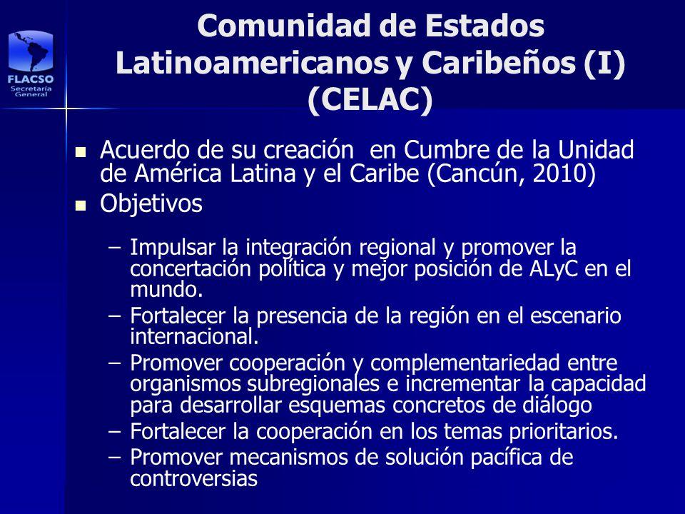 Comunidad de Estados Latinoamericanos y Caribeños (I) (CELAC)
