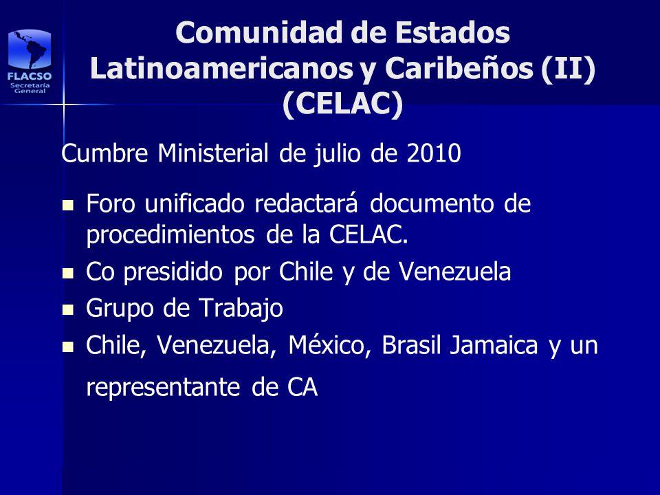 Comunidad de Estados Latinoamericanos y Caribeños (II) (CELAC)