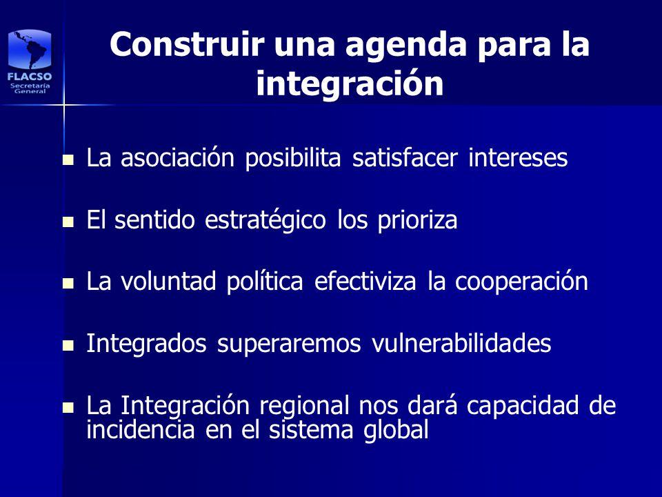 Construir una agenda para la integración