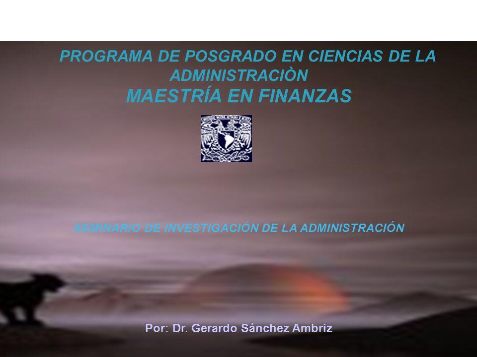 PROGRAMA DE POSGRADO EN CIENCIAS DE LA ADMINISTRACIÒN
